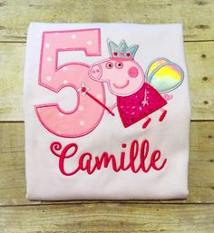 Does your little one love Peppa Pig? Then she will love this shirt to help her celebrate her birthday! *Please leave birthday year and name in the notes to seller section at checkout!* *Need a size no