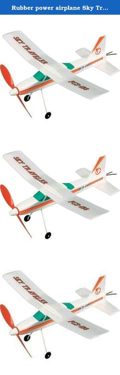 Rubber power airplane Sky Traveler. It's shipped off from Japan.
