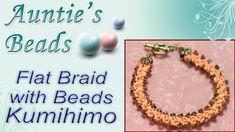 Flat Braid with Beads Bracelet - Kumihimo Episode 8