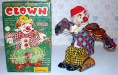 Alps the Happy Fiddler Clown Battery Toy.