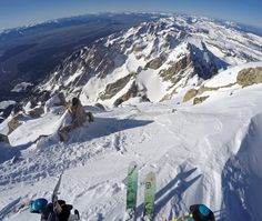 Spring Skiing in the Tetons - Grand Teton, Mt. Owen, Middle South and Jackson Hole Skiing, Mount Everest, Middle, Mountains, Spring, Travel, Viajes, Trips, Bergen