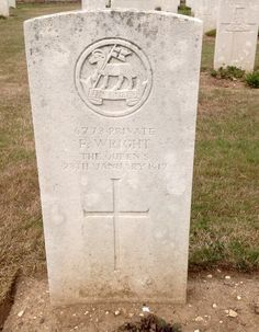 Private F.Wright 1st Bn. Royal West Surrey Regiment Executed for desertion 28/01/1917 Suzanne Military Cemetery No.3