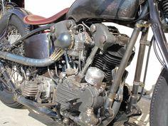 David Beckham's Garage Company Custom Bike – Great Unfinished Look Harley Davidson Knucklehead, Harley Bobber, Harley Davidson Chopper, Vintage Harley Davidson, Harley Davidson Motorcycles, Davidson Bike, Brat Motorcycle, Brat Bike, Custom Harleys