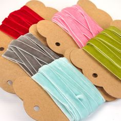 Velvet Ribbon in 5 Colours - 3 metres
