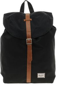 €71, Mochila de Lona Negra de Herschel. De Asos. Detalles: https://lookastic.com/women/shop_items/239627/redirect