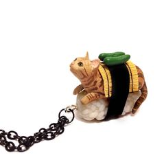 Sushi Cat Ginger cat Awesome Birthday gift Idea For by XenaStyle