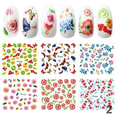 10 Pcs Nail Art Decoration Water Sticker DIY Nail Art Sewing Accessories no.2 * You can get more details by clicking on the image. (Note:Amazon affiliate link) Nail Art Stickers, Diy Stickers, Nail Art Diy, Diy Nails, Sewing Accessories, Diy Makeup, Colorful Flowers, Flower Designs, My Favorite Things
