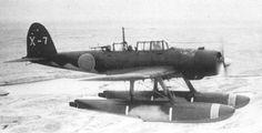 E13A seaplane in flight, date unknown