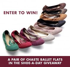 Hush Puppies Shoe A Day Giveaway WINa pr of Chaste Ballet Shoes from Hush Puppie Ends 8/31