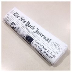 """HP Kate Spade NY Newspaper Clutch HP 2/14/16: A collector's favorite by Kate Spade - this truly looks like newspaper! The attention to detail is amazing. I love this clutch so much, but I've never used it. Valued at up to $298 on the market. Authentic and brand new with original tag attached. Includes card and dustbag. Tyvek with cloth interior. Magnetic snap closure. Approx measurements: 3.5"""" x 12"""", 1"""" depth.TRADE kate spade Bags Clutches & Wristlets"""