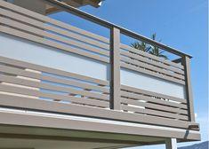 ALU Design Palm rnrnSource by sstkl Balcony Glass Design, Glass Balcony Railing, Balcony Grill Design, Balcony Railing Design, Window Grill Design, Stair Railing, Railings, Railing Ideas, Balustrade Balcon