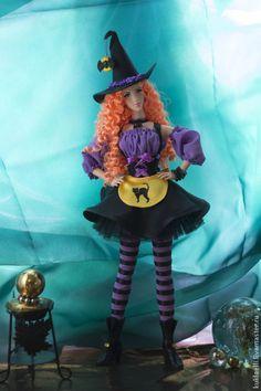 Коллекционные куклы ручной работы. Кукла Ведьмочка. Лариса Исаева. Ярмарка Мастеров. Тыква