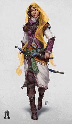 Bandit; rogue; Arabian fantasy; middle east fantasy; scimitar; woman; D&D; pathfinder