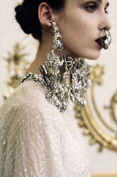 This was genius.  Givenchy, couture S/S 12  Photography by Kasia Bobula