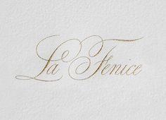 Kevin Cantrell Design This logo uses a script typeface and a soft gold color to create an elegant look December 14, 2013