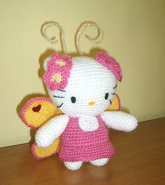 Crochet Hello Kitty Butterfly