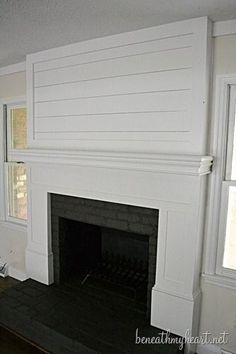 Amazing before & after!!!  Proof there's hope for my fireplace!  How to build a Fireplace Surround | Beneath My Heart
