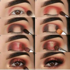 Tutorial Augen Make-up - Prom Makeup Black Girl Eye Makeup Tips, Makeup Goals, Skin Makeup, Makeup Inspo, Makeup Inspiration, Beauty Makeup, Makeup Eyeshadow, Makeup Ideas, Makeup Products