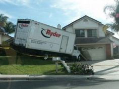 Moving Truck Crashed Into House