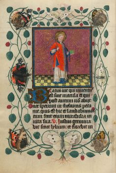 St.Vincent | Hours of Catherine of Cleves | Illuminated Manuscript | ca. 1440 | The Morgan Library & Museum