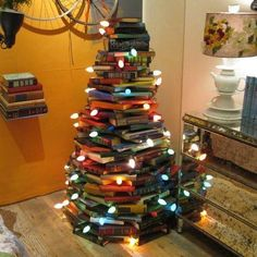 Book Christmas tree!