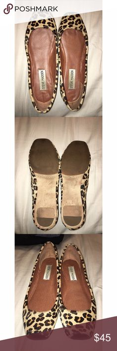 Steve Madden Leopard Print Flats Steve Madden Leopard Print Flats 🖤 Super cute & add a subtle edginess to any outfit. They are a need I. Your closet. Size: 5 ⚡️Open To Offers⚡️ Steve Madden Shoes Flats & Loafers