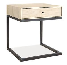 "Hudson C-Table/Nightstand - Nightstands - Bedroom - Room & Board, 20""w 20""d 22""h"