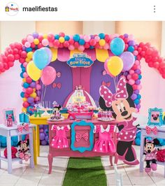 Minnie's Boutique Birthday Party Dessert Table and Decor