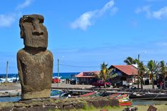 The United Nations has proclaimed Easter Island the most isolated inhabited island in the world. It's also home to one of the world's greatest mysteries. Easter Island, Chile, Travelling Tips, French Polynesia, Out Of This World, Capital City, Places To Visit, Pastel, Cities