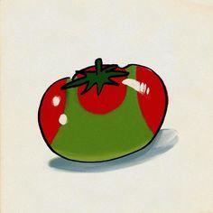 #日焼け #イラスト  #トマト