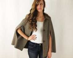 wool cape - beautiful style and use of lining | Clothes to make ...