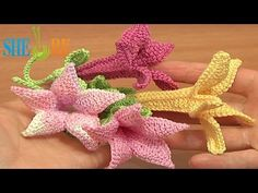 ▶ Crochet Bell Flower Tutorial 71 Part 2 of 2 Free Crochet Flower Patterns - YouTube