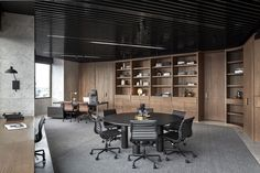 Interior Design Studio Tate has revamped the floor of an unusual hexagonal building to create lavish offices for PDG, a property development firm based i Law Office Design, Workplace Design, Office Interior Design, Home Interior, Office Designs, Corporate Office Design, Corporate Business, Design Ppt, Design Case