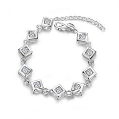 #Delicate#White Cubic Zirconia#Square#Copper#Silver Plated#Lattice#Bracelet http://www.shangjiejewelry.cn/product/60427574336-802934864/SJ_2016_New_Product_Delicate_High_end_Pave_AAA_White_Cubic_Zirconia_Square_Copper_Silver_Plated_Lattice_Bracelet.html
