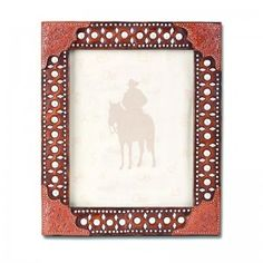 Montana Silversmiths Tooled Leather Studs 8x10 Photo Frame