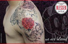 Tatuaje de rosas realizadas por Eduardo Alonso