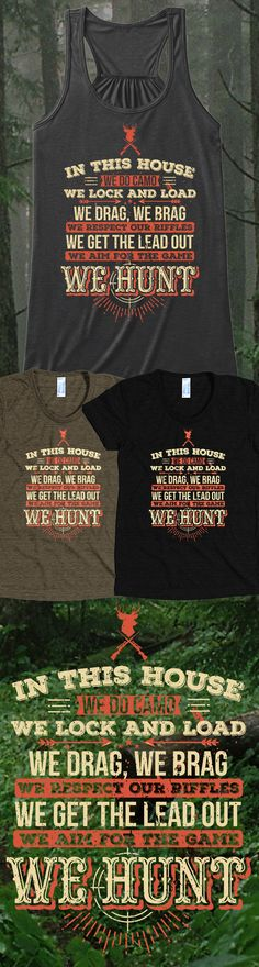 Do you like hunting?! Check out this awesome We Hunt t-shirt you will not find anywhere else. Not sold in stores! Grab yours or gift it to a friend, you will both love it