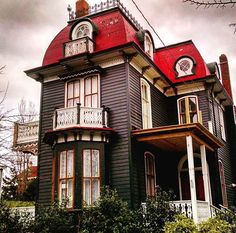 Gothic black & red Victorian