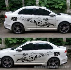 Details About Black Car Decal Vinyl Graphics Side Stickers Body - Graphics for the side of a car