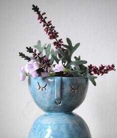 Little lady candle holder/vase - Atelier Stella  http://www.etsy.com/shop/AtelierStellaLondon