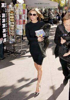 la modella mafia Kate Moss in Paris with Stella Mccartney for Spring 2013 fashion week 1