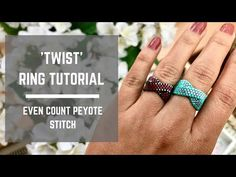 Twist Ring Tutorial - even count peyote ~ Seed Bead Tutorials Beaded Bracelets Tutorial, Beaded Bracelet Patterns, Seed Bead Bracelets, Beads Tutorial, Seed Beads, Beading Patterns Free, Seed Bead Patterns, Bead Jewelry, Bracelets