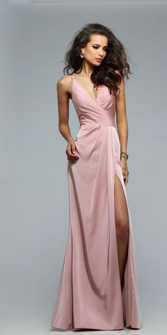 Long Ruched Dress by Faviana 7755