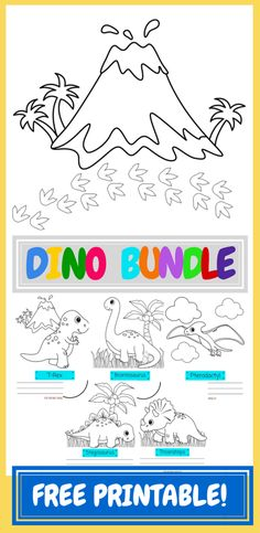 Free printable dinosaur coloring pages from Hip Homeschooling, check it out!