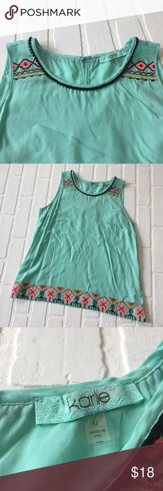 Karlie Tank Excellent condition! 23 1/2 inches long; 19 inch Bust. A10206 Karlie Tops