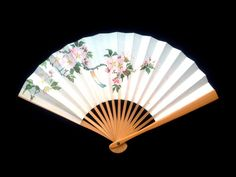 Flower Japanese Hand Fan Cherry Blossoms by VintageFromJapan, $9.50