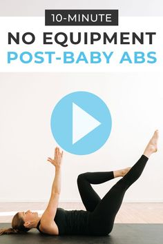Rebuild core strength after baby with this Ab Workout -- specifically designed for new moms! 10 Minute Ab Workout, Easy Ab Workout, Great Ab Workouts, Ab Core Workout, Effective Ab Workouts, Abs Workout Video, Daily Exercise Routines, Abs Workout Routines, Strength Workout