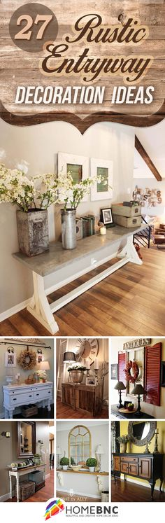 Splendid 27 Welcoming Rustic Entryway Decorating Ideas That Every Guest Will Love The post 27 Welcoming Rustic Entryway Decorating Ideas That Every Guest Will Love… appeared first on Cazoz Diy Home Decor . Rustic Entryway, Entryway Decor, Entryway Ideas, Apartment Entryway, Entrance Ideas, House Entrance, Rustic Office, Apartment Design, Rustic Living Room Decor