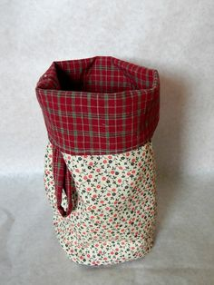Car trash bag 100 cotton 7x9 inches by BlackRavenCreations on Etsy, $15.00