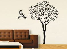 Виниловые наклейки на стену с деревом